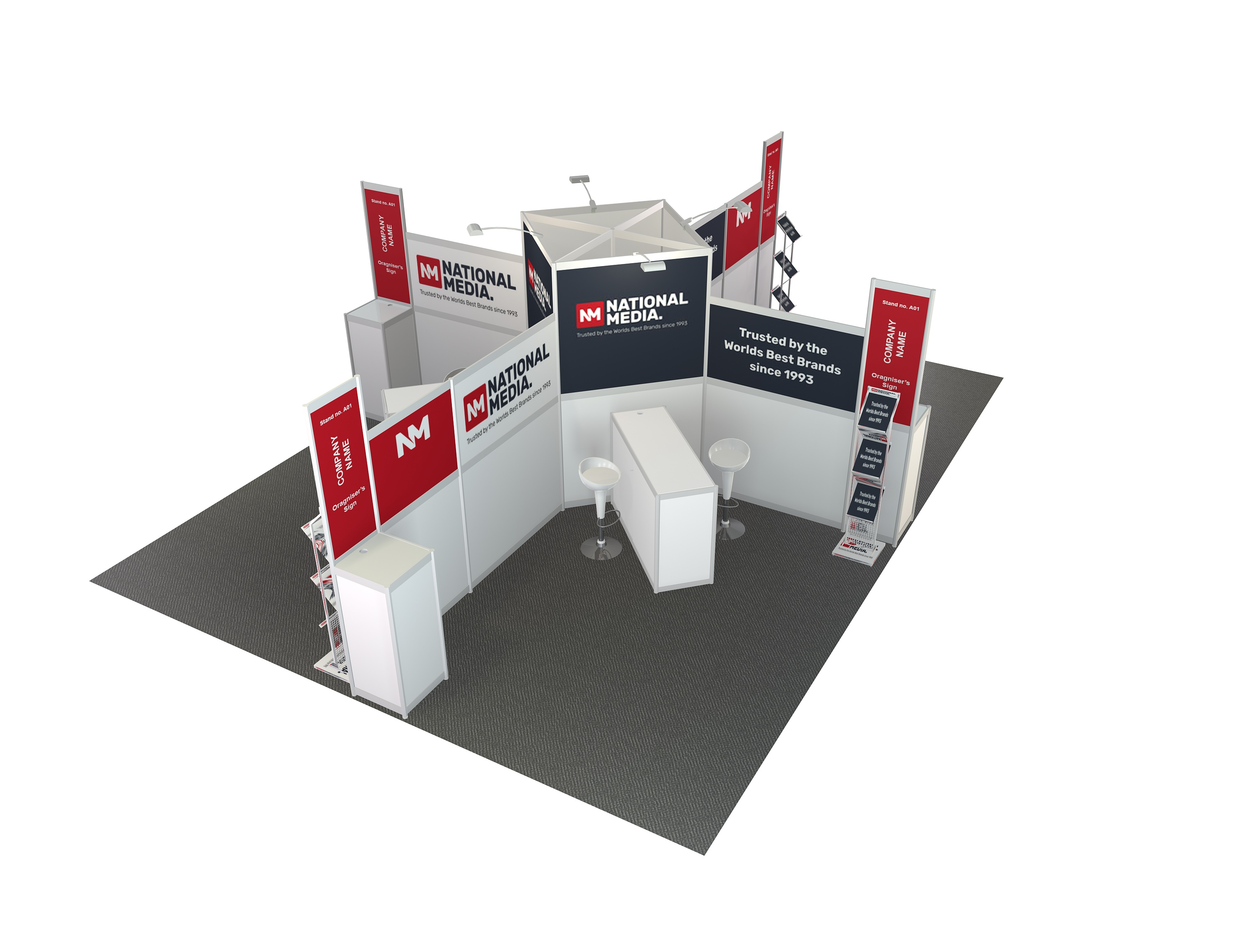 4m  x  3m  Stand