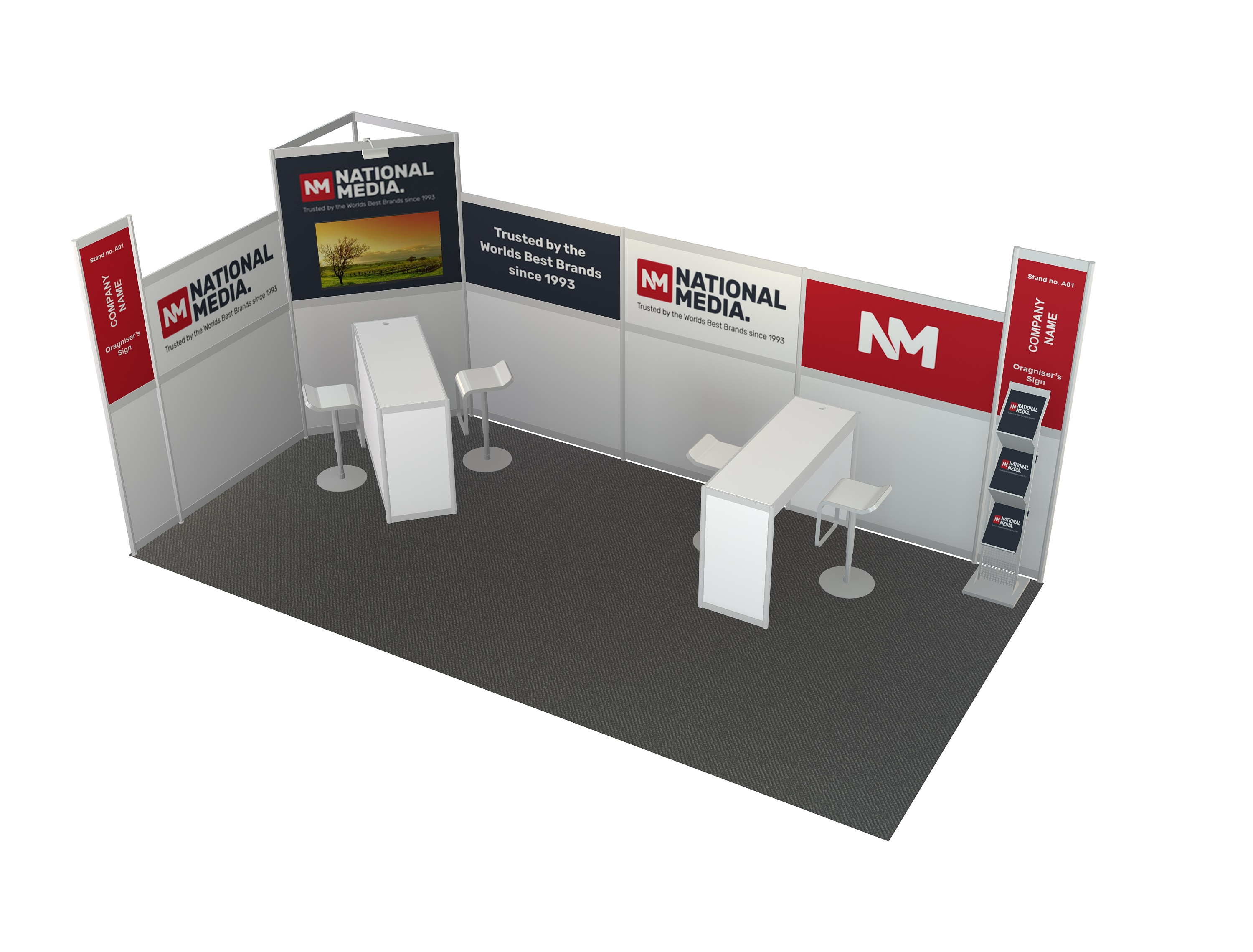 3m  x  2m  Stand